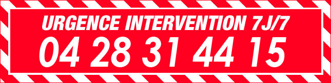 URGENCE INTERVENTION 7J/7 04 28 31 44 15